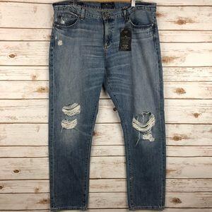 Lucky Jeans Sienna Slim Boyfriend Distressed 14 32